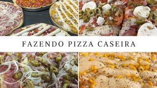 PIZZA CASEIRA COM VÁRIOS RECHEIOS – MASSA SUPER FÁCIL