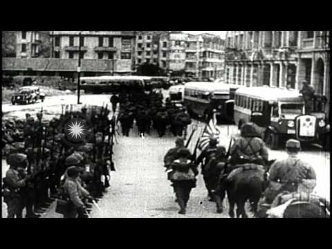 Japanese occupation of Hong Kong. HD Stock Footage