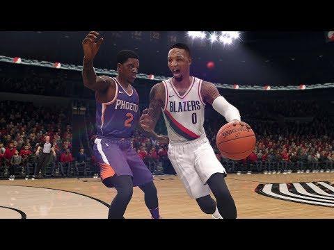 NBA Live 18 Gameplay | Phoenix Suns vs Portland Trailblazers (Damian Lillard vs Devin Booker)