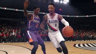 NBA Live 18 Gameplay | Phoenix Suns vs Portland Trailblazers (Damian Lillard vs Devin Booker)