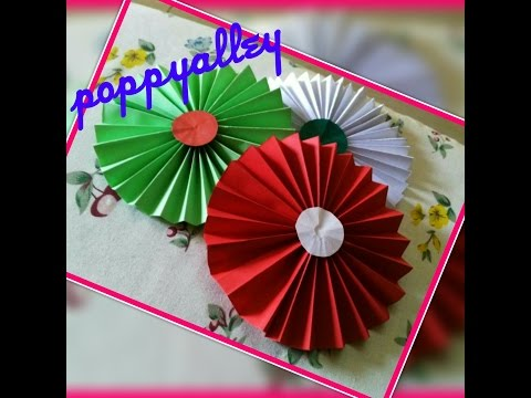 DIY Paper Crafts :: How to make simple Paper ROSETTES || SPRING FLOWERS || Room Decoration