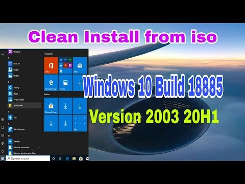 Clean Install Windows 10 build 18885 (20H1) 🌐 Latest Insider Preview