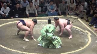 20150515 大相撲夏場所6日目 白鵬vs栃煌山 白鵬横綱相撲.