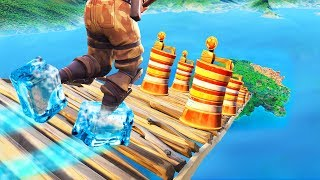 Downhill ICE SKATING Obstacle Challenge! - Fortnite Battle Royale