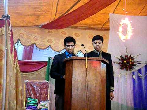 Hafiz Umair Comparing in Educators college welcome party 2011  Part1