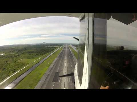 C172 Commercial Training Around KDAB and Low Approach At NASA Landing Facility
