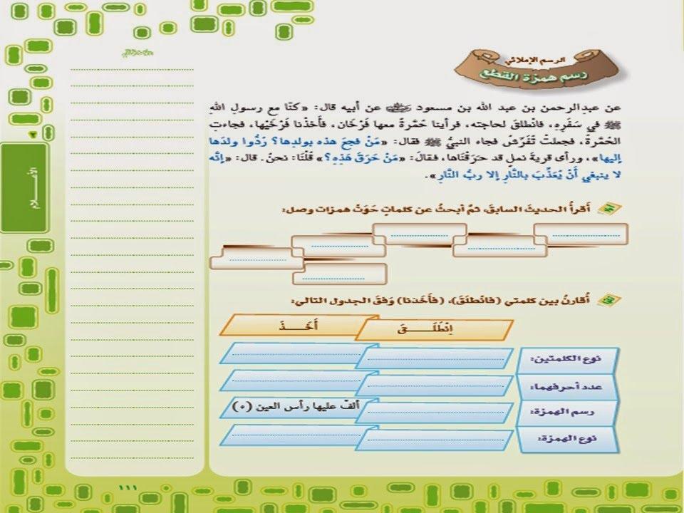 حل كتاب النشاط لغتي الخالدة اول متوسط ف1 الوحدة الثانية