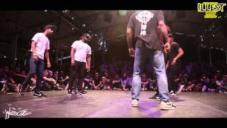 "IIB 2015 100% KRUMP 1/4 FINALS  TEAM BATTLE :   FRANCE "" X2BUCK"" vs U.K by HKEYFILMS"
