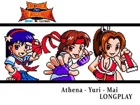 SNK vs Capcom Match of The Millenium [NGP] Story Mode - Athena, Yuri & Mai