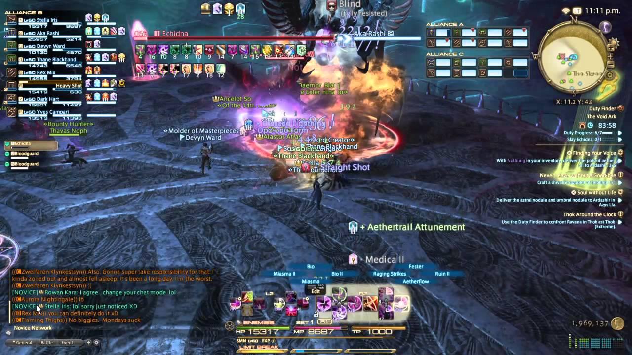 FFXIV Void Ark Summoner Saves Raid From Wipe YouTube