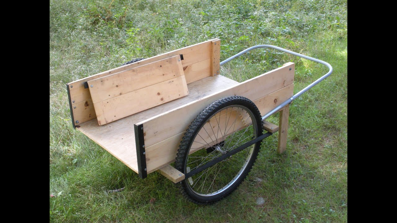Garden Cart Wheels I Wood garden cart with four wheels YouTube