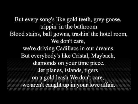Lorde Royal Lyrics On Screen