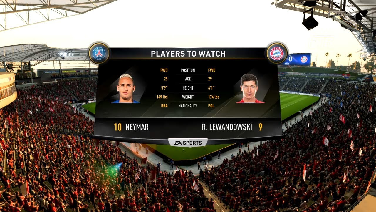 FIFA 18 | PSG vs Bayern Munich | PS4 Gameplay & Full match | First time  playing FIFA - YouTube