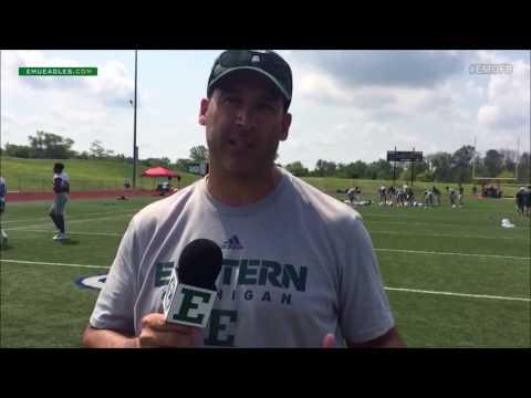 EMU Football : Camp PostPractice - Coach Aaron Keen
