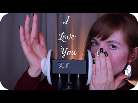 "ASMR ""I Love You"" Whispered in 23 Languages // Lotion Ear Massage (3Dio)"