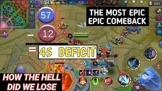 THE BEST EPIC COMEBACK IN THE HISTORY OF ML | WTF WHAT HAPPEN? | MOBILE LEGENDS