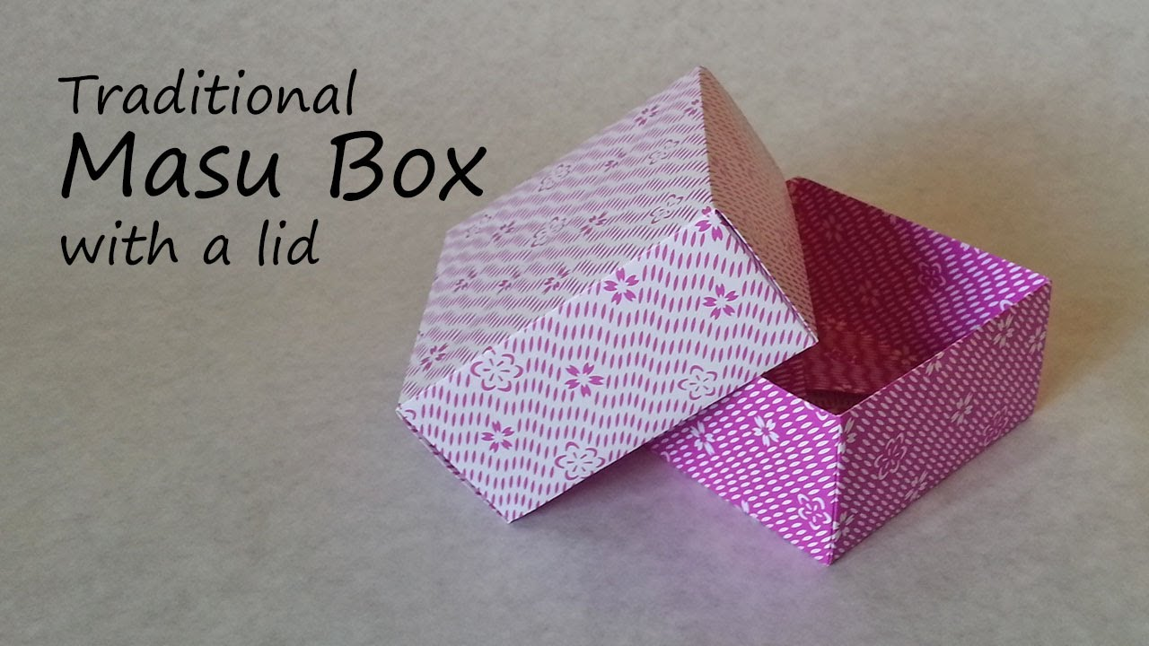 Origami paper box with lid - Tutorial - YouTube | 720x1280