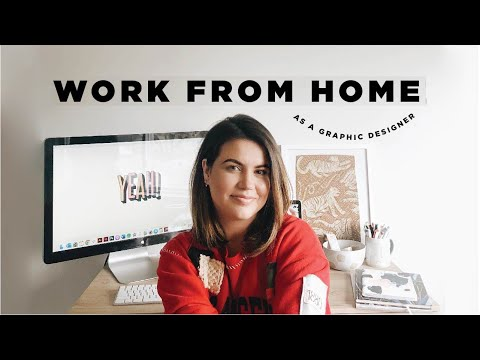 DAY IN THE LIFE OF A GRAPHIC DESIGNER // Working From Home