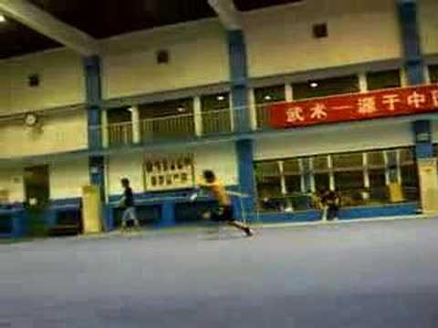 Beijing Wushu Team practice - Ge Xin Staff