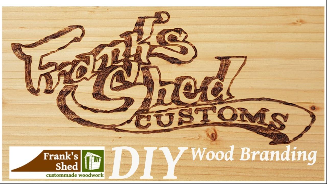 holz brandmalen / wood branding mit der weldinger bs750 | ? franks shed ?