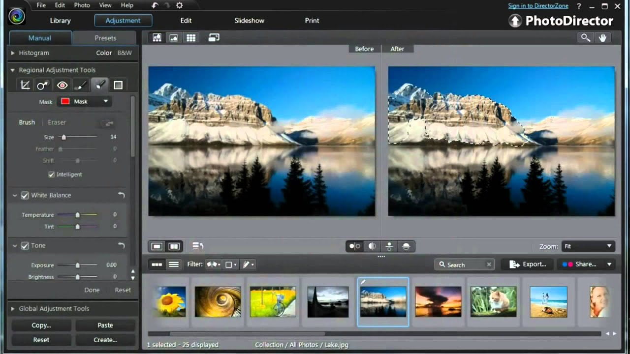 Portable Photoshop Photodirector 6 - Apply Global And Regional Adjustments To