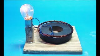 How to make free energy light bulbs generator with magnets science experiment at home