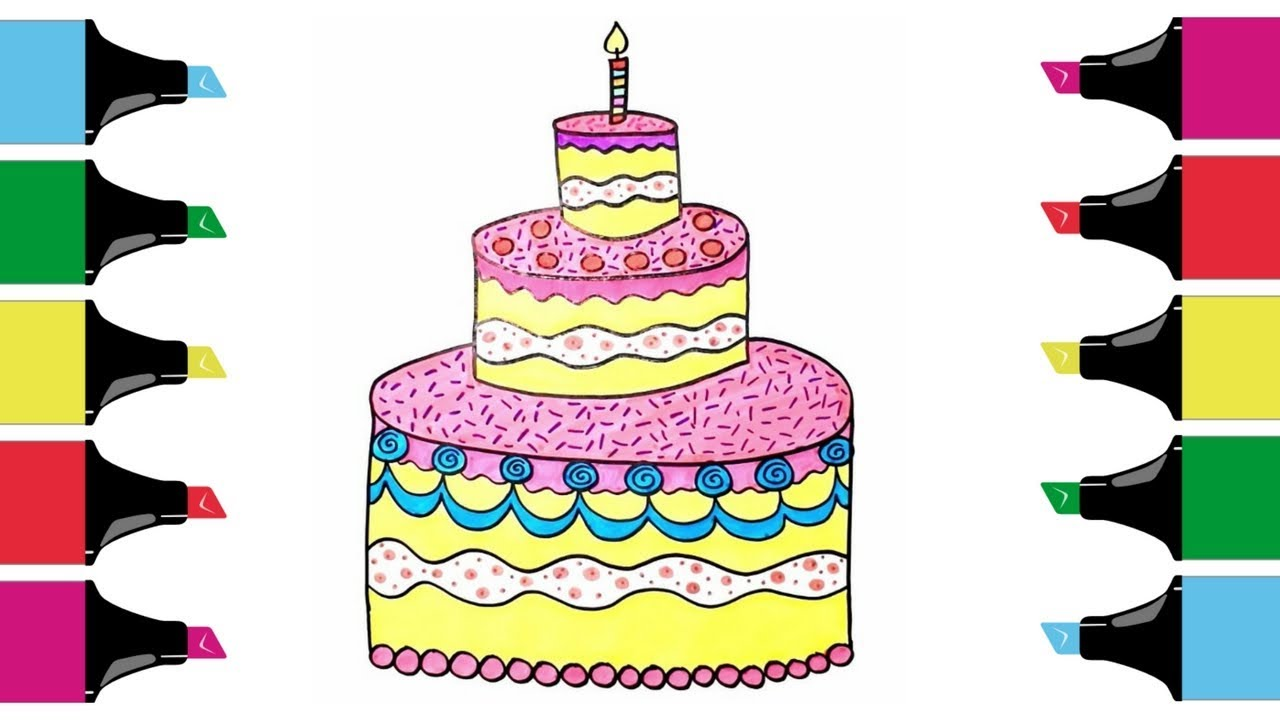 Collection Of Birthday Cake Drawing 41 Clipart Library