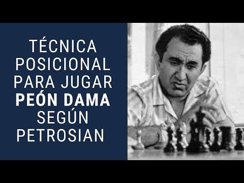 Técnica posicional para jugar peón dama según Petrosian