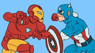 Marvel's Civil War Animated in 4 Minutes [Original Marvel TL;DR Pilot]