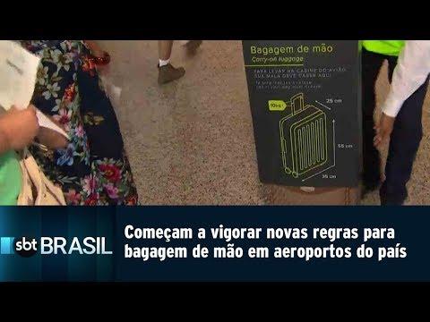 Tamanho bagagem de mão voo internacional tam
