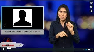 Guest anchor coming to Sign1News on Tuesday (12.2.18)