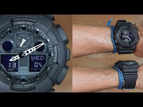 100 G Casio Black Ga Unboxing Shock 1a1 Full AqRL354j