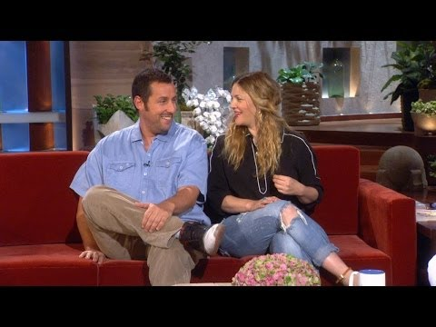 Adam Sandler On Kissing Drew Barrymore In Front of His Wife