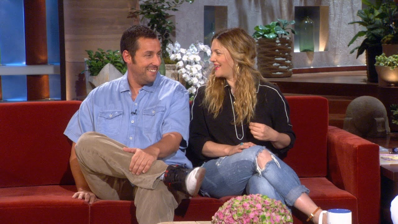 Adam Sandler On Kissing Drew Barrymore In Front of His ...