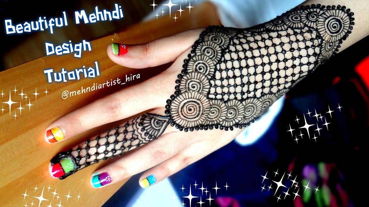 Mehndi design 2017 eid - How To Apply Easy Simple Mehndi Designs For Hands Tutorial For Eid 2017 Diwali Weddings 2017