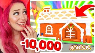 Spending ALL OF MY ROBUX On The NEW Gingerbread House In Adopt Me... Roblox Adopt Me Holiday Update