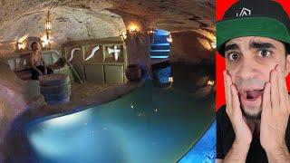 رجل الغابة يبني مسبح سري تحت الارض !!