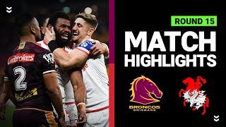 Broncos v Dragons | Round 15 2020 | Telstra Premiership | NRL