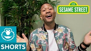 Sesame Street: How John Legend Makes His Daughter Laugh | #ShareTheLaughter Challenge