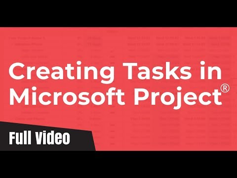 Creating Tasks in Microsoft Project 2010 (Milestone, Summary, Manual & Automatic)