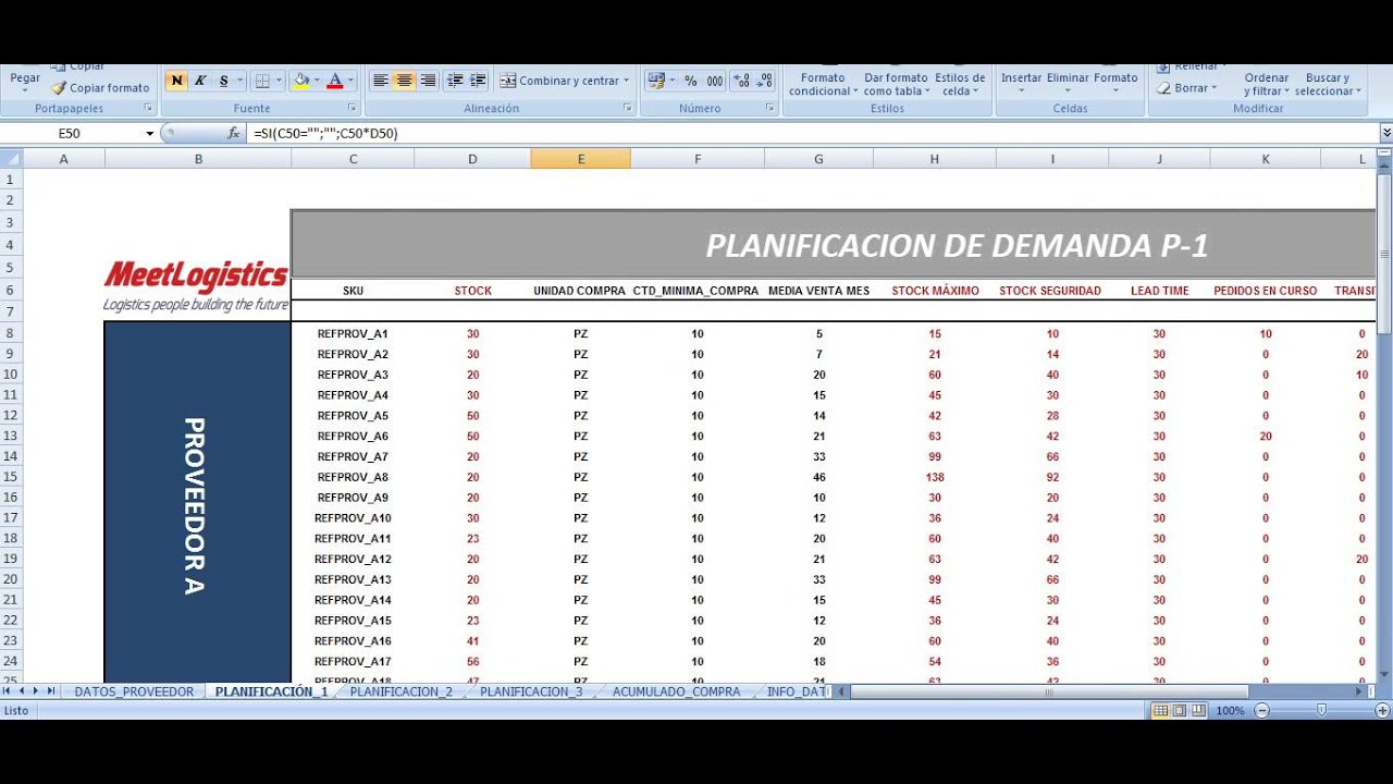 Planificacion Demanda en EXCEL - YouTube
