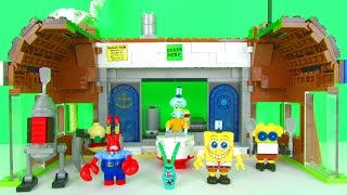 Spongebob Squarepants Krusty Krab Attack Playset Fun Kids Toy Review, Mega Bloks Toys