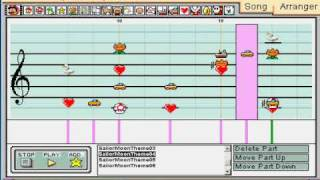 Sailor Moon English Theme Song - Mario Paint Composer