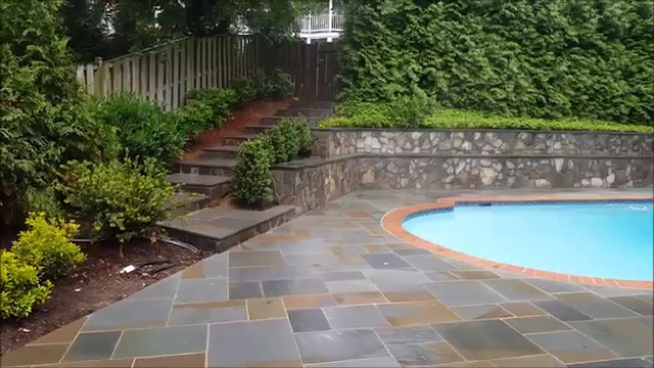 Pennsylvania Flagstone Pool Deck And Patio In Arlington, VA   YouTube
