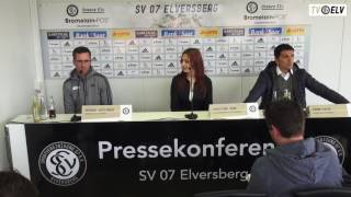 TV Elv // Pressekonferenz - SV Elversberg vs. Waldhof Mannheim / 14.05.16