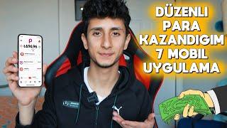 DÜZENLİ KULLANDIĞIM 7 PARA KAZANMA UYGULAMASI !!