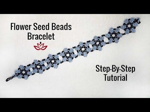 Flower Seed Beads Bracelet - Tutorial