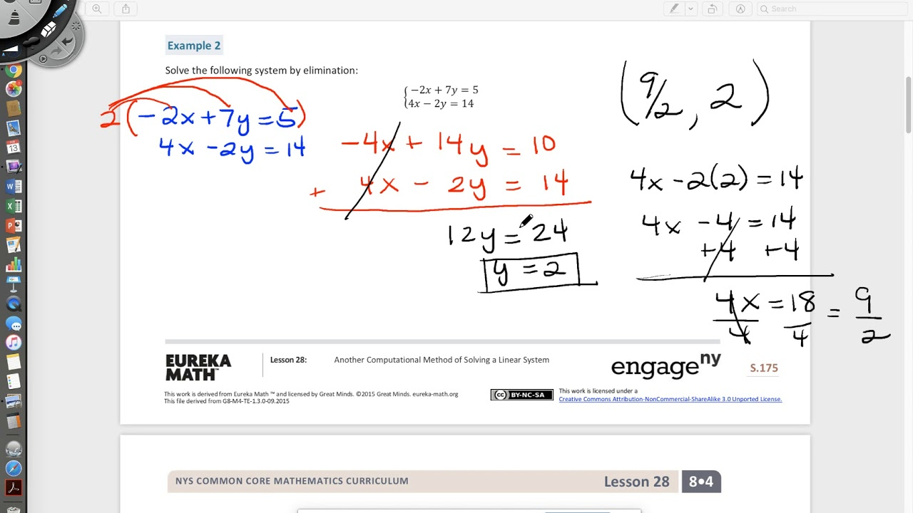 Elimination Method for Solving a System of Linear Equations ... on