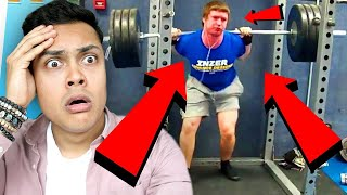 REACTING TO GYM WORKOUT FAILS