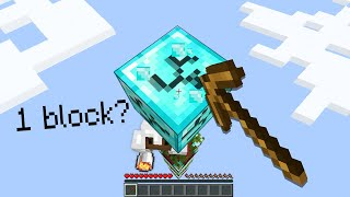 Minecraft Manhunt but you only get 1 block..
